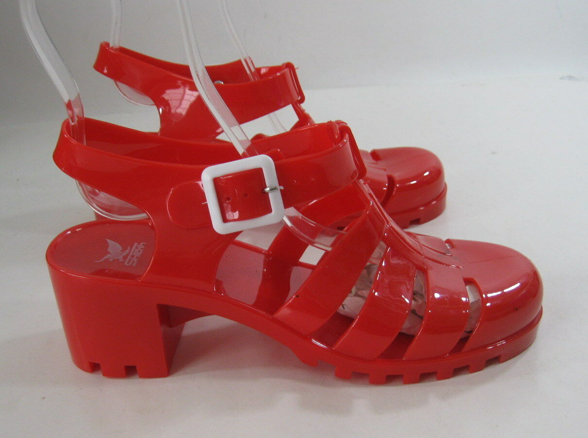 Man's/Woman's new sexy Womens Ankle RED Summer Beach Retro Ankle Womens Strap Jellies Jelly Sandal Size 7 New product Latest styles have fun VH1224 bfdc18