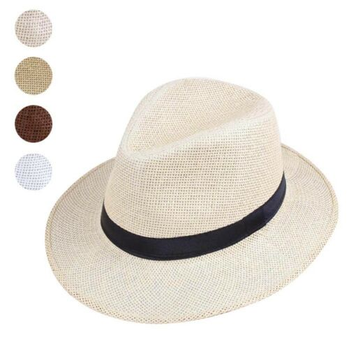 Women Men/'s Summer Beach Natural Cowboy Wide Brim Straw Hat Sun Hat Cap
