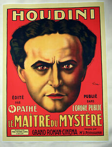 Large-Format-Facsimile-of-1919-Harry-Houdini-Master-Mystery-Movie-Poster-36-x-27