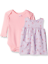 BON-BEBE-Baby-Girls-039-2-Pc-French-Terry-Tagless-Jumper-Set-with-Bodysuit-3-6mo thumbnail 2