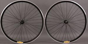 New-Shimano-105-36-Hole-Velocity-Deep-V-Black-Road-Bike-Wheels-Wheelset