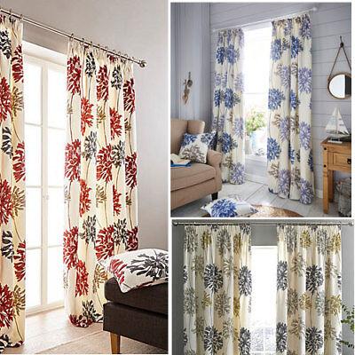Dandelion Print Pencil Pleat Lined, Dandelion Print Curtains