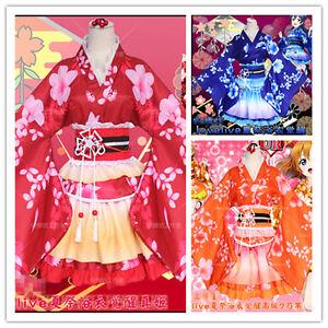 Lovelive Love Live Summer Festival Yukata Kimono Cosplay Costume