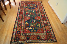 Antique Cloudband Kazak  Caucasian Rug  4x9ft circa 1900