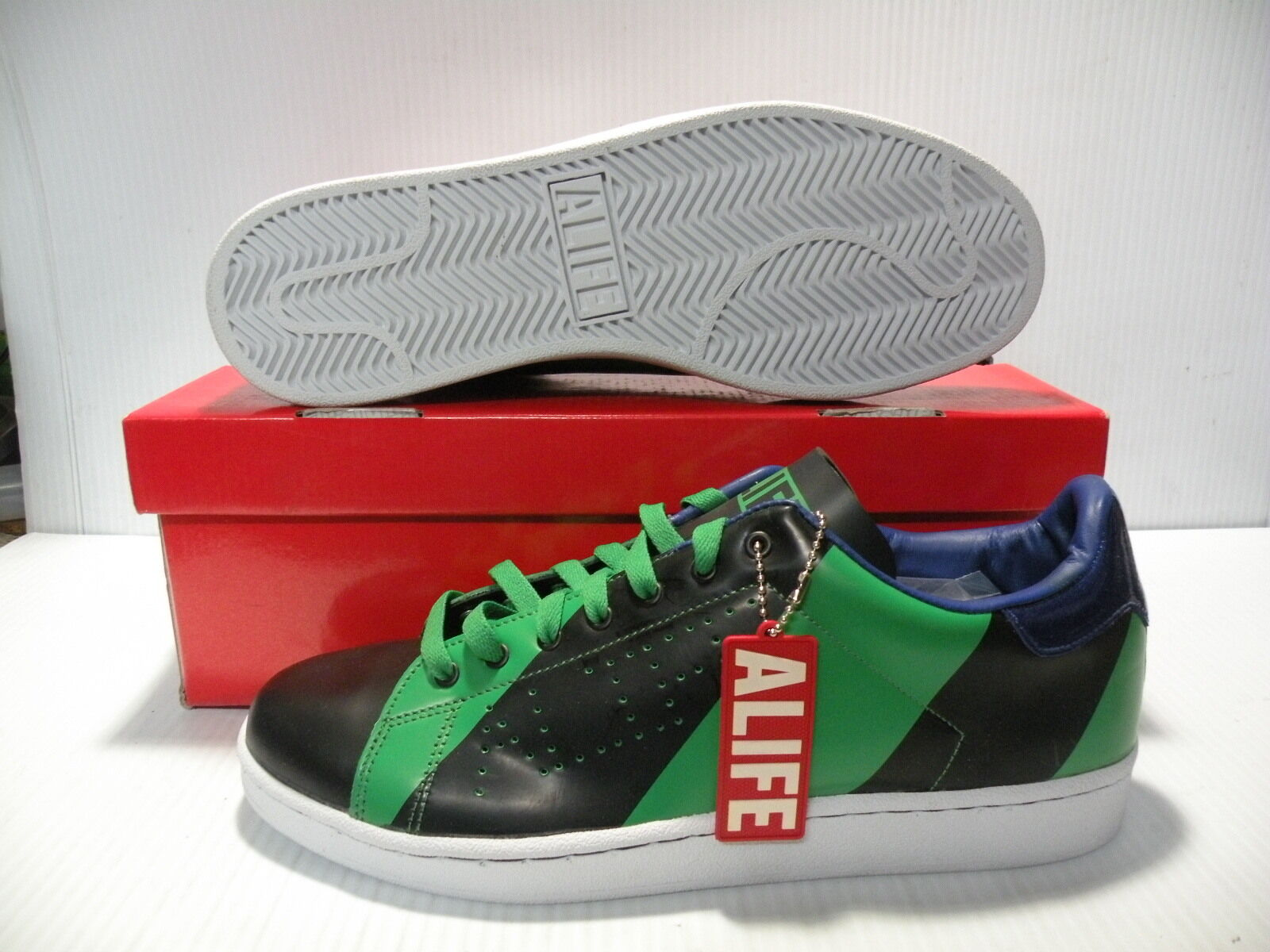 ALIFE COURT CUP-RGB SNEAKERS MEN SHOES GREEN/BLACK/BLUE CCRGBG-F081 SIZE 11 NEW