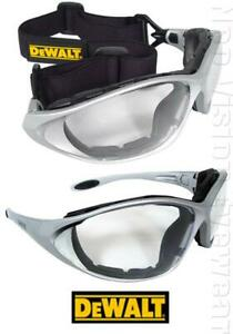 Dewalt Framework Clear Anti Fog Padded Hybrid Safety Glasses Goggles Z87+