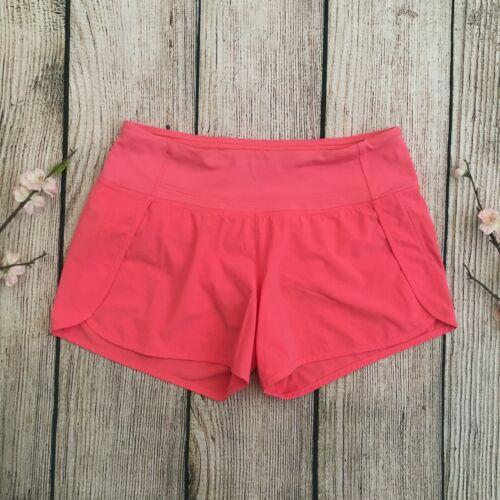 LULULEMON pink running shorts women's size 4