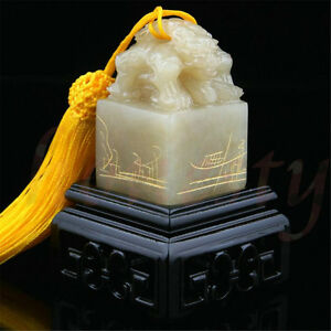 Chinese-Traditional-Double-Animal-Head-Carving-Sculpture-Name-Stone-Jade-Seal