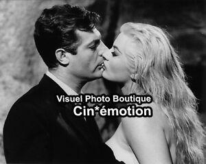 Photo-Argentique-20x25-5cm-1960-LA-DOLCE-VITA-Mastroianni-Ekberg-NEUVE-a