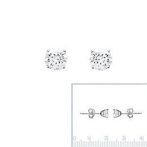 1304170 Boucles d/'oreilles Argent et Zirconia NEUF