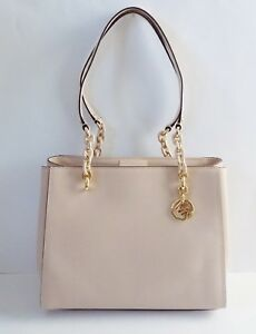 3027d8862887 NWT Michael Kors Sofia Large Leather Tote ~ Ballet/Gold 192877001607 ...