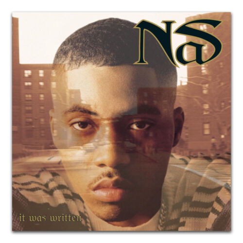 Hot Nas It Was Written Rap Hip Hop Music Album Fabric POSTER 14x14 24x24 N110