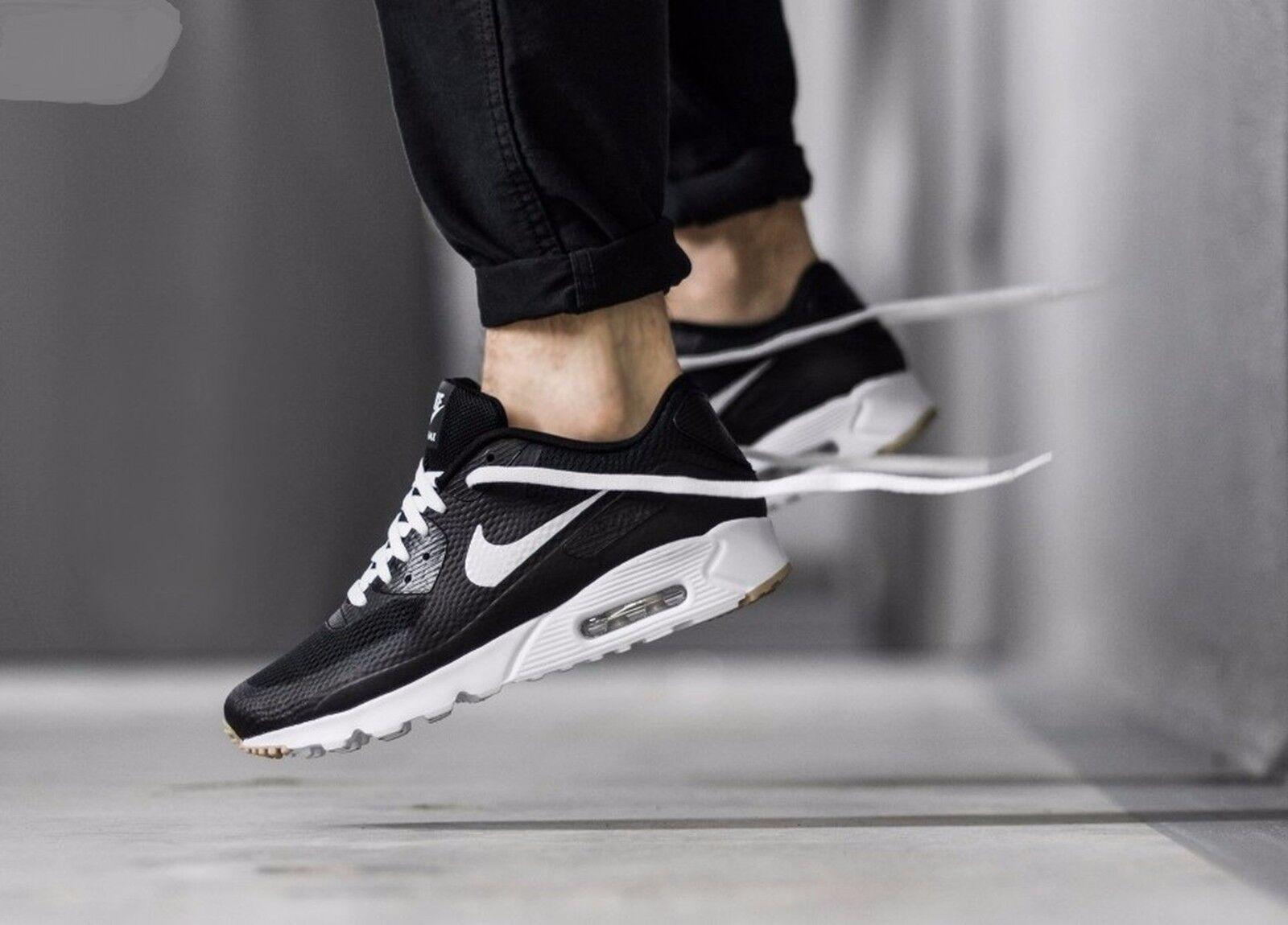Nike Air Max 90 Ultra Essenziale Bianco Nero 819474 010 Uomo Sz 12,5