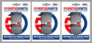 Moto-Guzzi V65 650 Florida 1986 Front & Rear Brake Pads Full Set (3 Pairs)