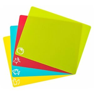 Image Is Loading 4pcscutting Flexible Mats Plastic Chopping Board Set Boards