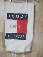 VTG Hilfiger Big Flag Cotton Rucksak Bag Backpack Sailing Nautical Large Weave