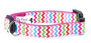 Rainbow-ZigZag-Summer-Dog-Collar-OR-Lead-Size-Small-Large