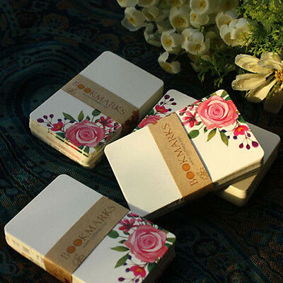 50 Sheets Flower Colourful DIY Blank Post Thick Card Double-sided Sketch #JP