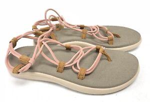 b02e36bf26c6 Image is loading Teva-Voya-Infinity-Tropical-Peach-Sandals-Womens-Shoes-