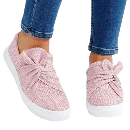 Damen Schleife Schuhe Halbschuhe Freizeit Slippers Loafers Sneakers Sommerschuhe