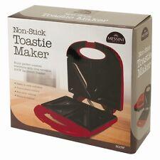 Máquina Antiadherente Toastie Maker Sandwich prensa para panini parrilla Plancha Rojo De Salud