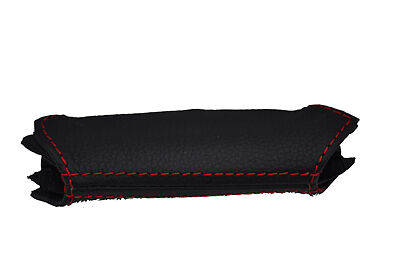 red stitch FITS FORD S-MAX OR GALAXY MK3 LEATHER HANDBRAKE HANDLE COVER