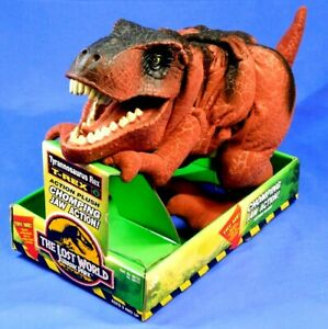 JURASSIC-PARK-LOST-WORLD-RED-T-REX-ACTION-PLUSH-1997-NEW