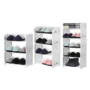 3-4-5-Tier-Shoe-Rack-Modern-Storage-Shelf-Stand-Wood-Plastic-Organiser-Displ