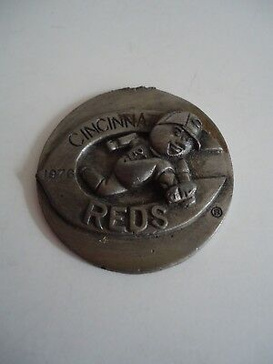 MLB Pewter Belt Buckle Cincinnati Reds NEW