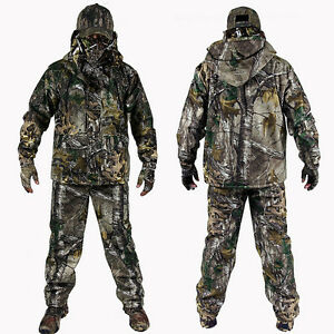 0571991803809 Image is loading Bionic-Camouflage-Hunting-Clothes-Green-Leaf-Breathable- Jacket-