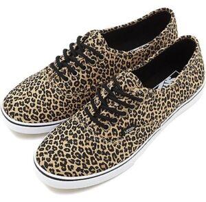 046e10420bc0fe New Vans Mens 3.5 Womens 5 Unisex Authentic Lo Pro Leopard ...