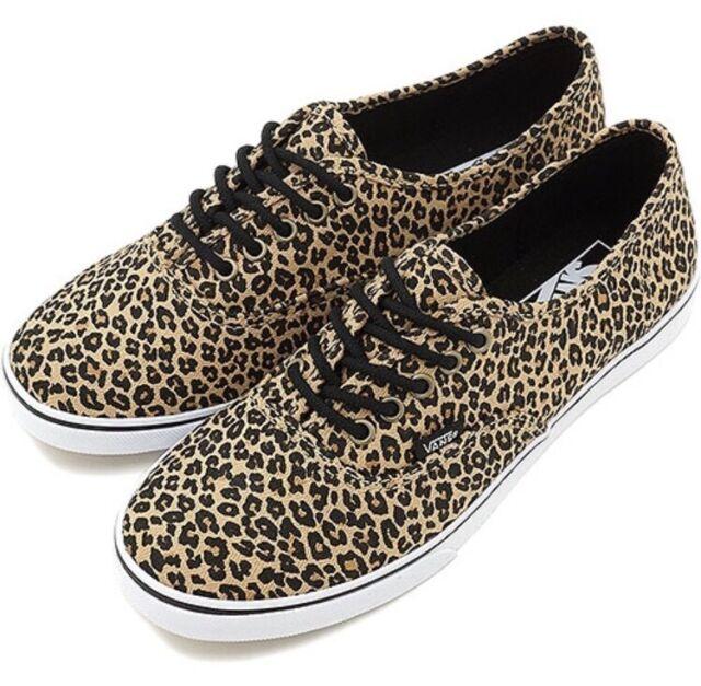 7ac5650d487 New Vans Mens 3.5 Womens 5 Unisex Authentic Lo Pro Leopard Herringbone  Sneakers