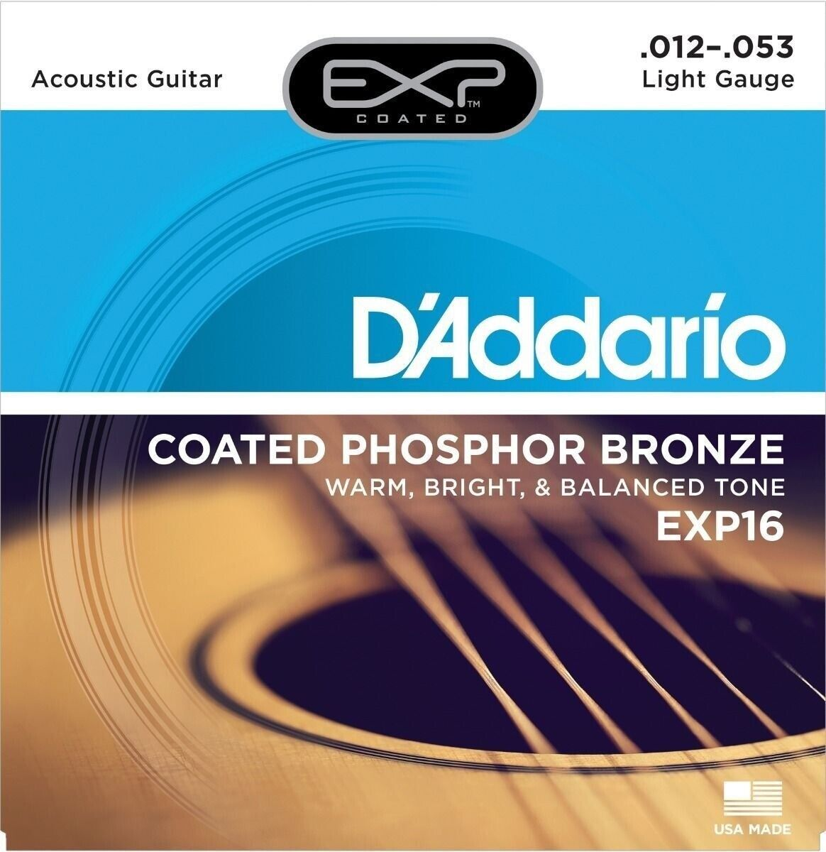 10 Sets D'Addario EXP16 Beste Posphor Bronze Gitarrensaiten Licht 12-53