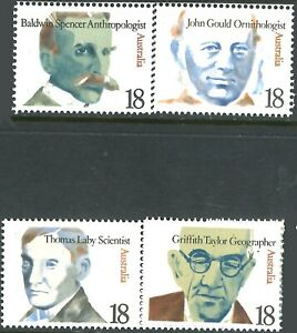 Australia-1976-MNH-Stamps-Set-4x-18c-Famous-Australian-Scientists-variety-issues