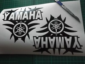 2 x Yamaha Motorcycle/Motorcross Vinyl Sticker Decals