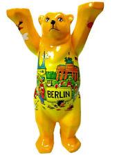 BUDDY BEAR Berlin Comic VI 6 NEU/OVP 22cm Gelber Bär mit Wahrzeichen +Glasplatte