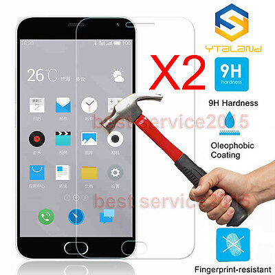 "Ytaland 2Pcs 9H+ Tempered Glass Film Screen Protector For Meizu M2 mini 5.0""inch"