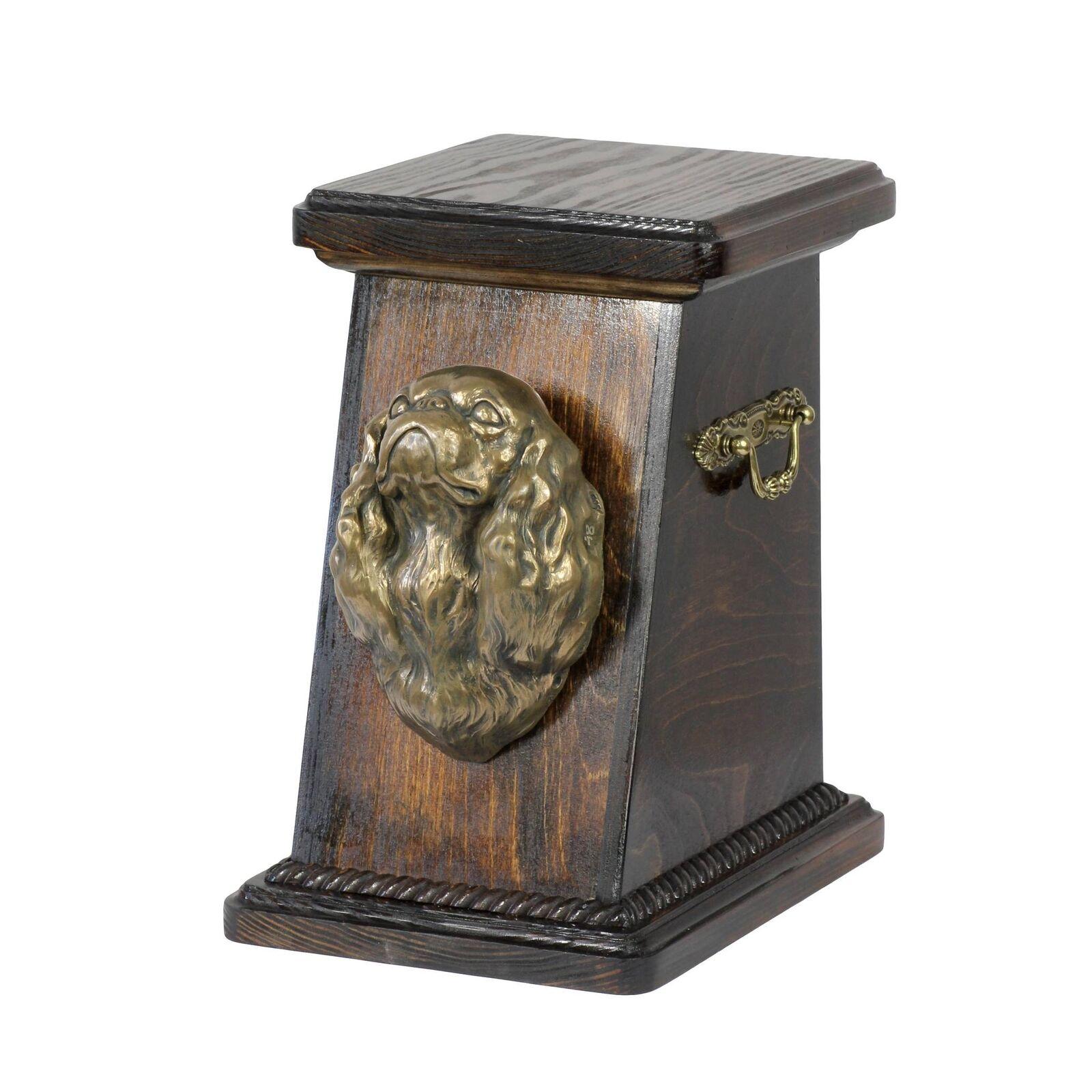 King Charles Spaniel tipo 1 - urna di legno con cane Art Dog IT Tipo 3