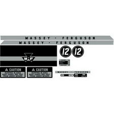 NEW MF12 MASSEY FERGUSON LAWN TRACTOR COMPLETE DECAL SET MF 12 HIGH QUALITY