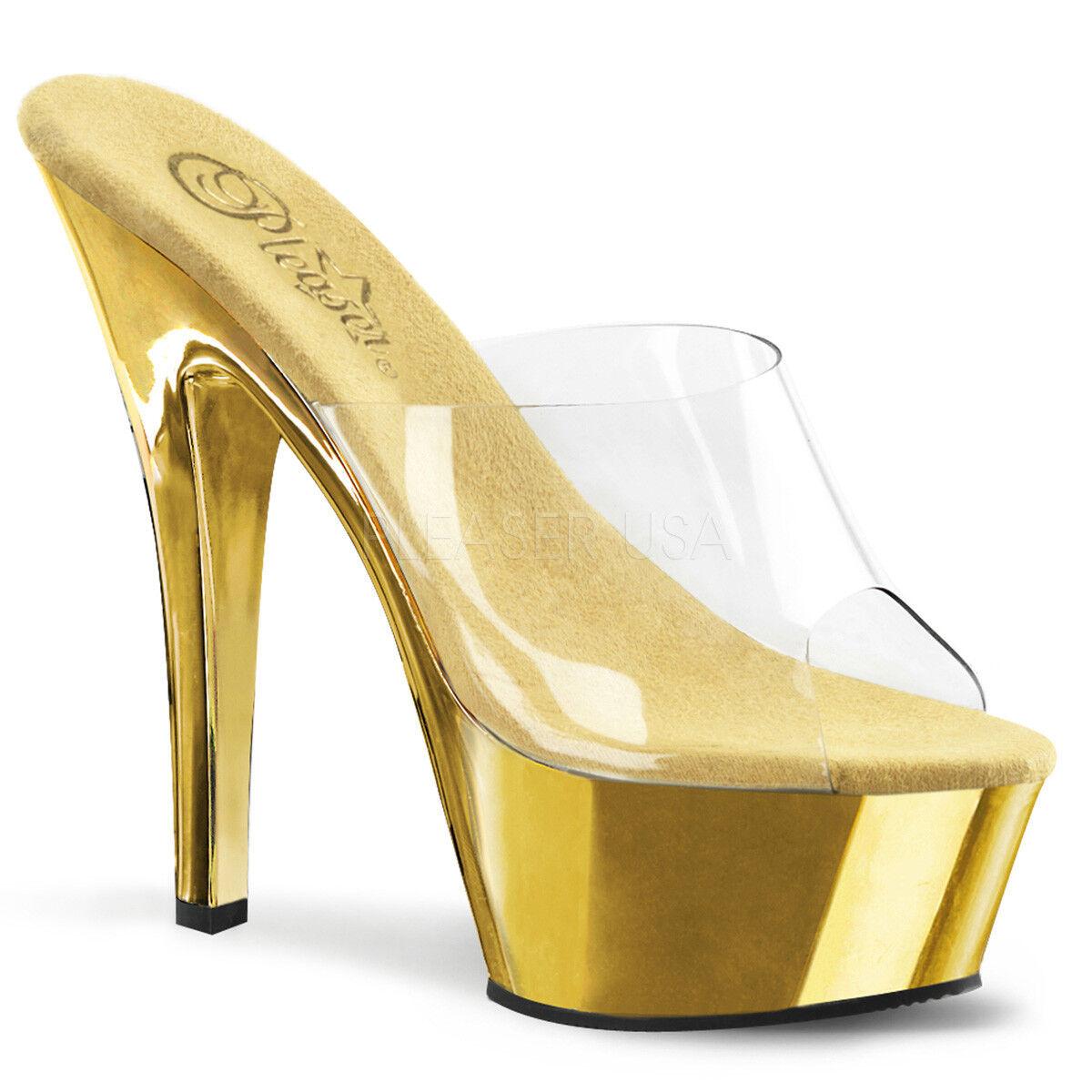 PLEASER - Platform Kiss-201 Sexy Platform - Slide Schuhe Sandale 3951f9