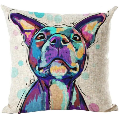 Decor Gift Cute Pet Dog Pillow Cover Throw Pillow Case Sofa Cushion Cover Home