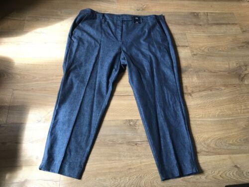 Ladies M/&S Mid Rise Slim Ankle Grazer Denim Jeans trousers size 24 Long BNWT~