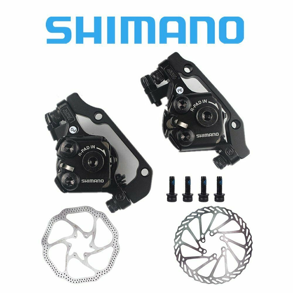 Shimano BR-M375 Mechanical Disc Brake Front&Rear Calipers w   160mm redors  save on clearance