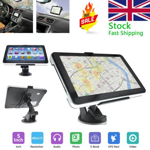 "5/"" 8GB Navigator Sat Touch Screen Car Truck SAT GPS Navigation Free EU UK Maps"