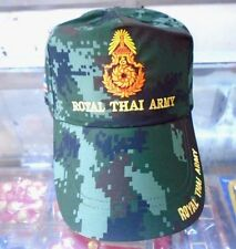 VINTAGE - CAP HAT OBSOLETE EXPIRED ROYAL THAI ARMY GREEN BASEBALL THAILAND ASIA