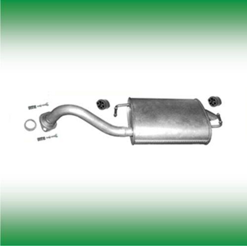 TOYOTA COROLLA 1.4 71 KW 2002-2004 posteriore acciaio per endschalldämpfer Silenziatore a34