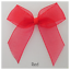 15mm Ribbon Wedding Bow,Craft Sheer Organza Ribbon Bows-Self Adhesive-5cm