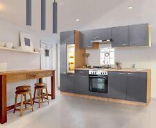 Respekta Küchenzeile 270 Cm Buche - Grau