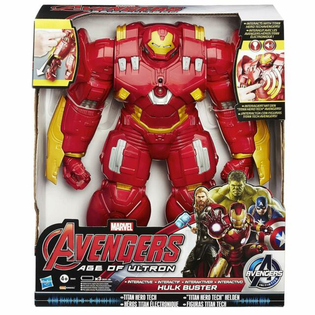Marvel Avengers Hulkbuster Interactive Action Figure Tech Talking Electronic Toy