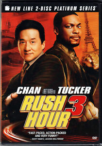 RUSH HOUR 3 The MOVIE on 2 DVD of ACTION Comedy JACKIE ...